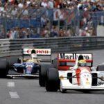 F1ベストシーンといえば、1992年F1モナコGP。凄まじいバトルを展開したアイルトン・セナ vs ナイジェル・マンセル。