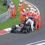 F1 2017 スペインGP-FP1:ここに至っても信頼性問題を抱えるホンダのパワーユニットは悲惨。1周でエンジンが壊れるとは、何をしようとしているのか分からない。